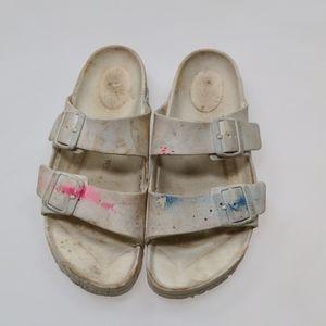 Birkenstock White Sandals Size 38